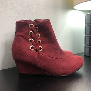Kids Wedge Boots
